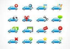 auto designsymboler ställde dig in Arkivfoton