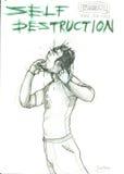Auto-destruição Foto de Stock