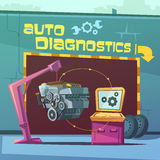 Auto Diagnostics Illustration Royalty Free Stock Photo