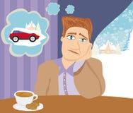 Auto die in de sneeuw wordt geplakt Royalty-vrije Stock Afbeelding