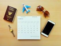 Auto die Plannend uw vakantiereis plannen Royalty-vrije Stock Foto's