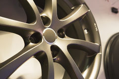 auto diskstålhjul Royaltyfri Bild