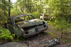 Auto-Dump in Kirkoe Mosse Stockbild