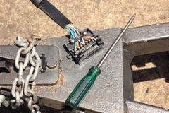 Auto electric circuit Stock Photography