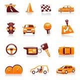 Auto en automobiel vectorpictogramreeks Royalty-vrije Stock Foto