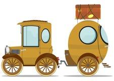 Auto en caravan royalty-vrije illustratie