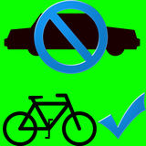 Auto en fiets Royalty-vrije Stock Afbeelding