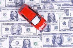 Auto en geld Royalty-vrije Stock Afbeeldingen