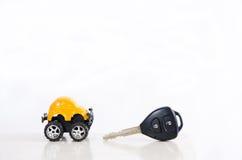 Auto en sleutel stock foto