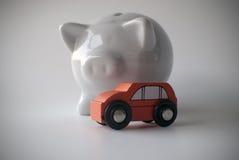 Auto en spaarvarken Royalty-vrije Stock Foto
