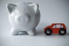 Auto en spaarvarken Royalty-vrije Stock Afbeeldingen