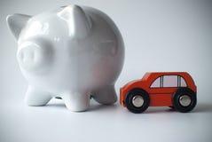 Auto en spaarvarken Stock Fotografie