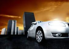 Auto en stad Stock Afbeelding