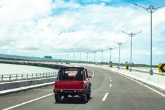 Auto en Tollway in Bali Royalty-vrije Stock Foto's