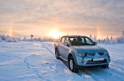 Auto en zon Stock Afbeelding