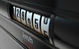 Auto entfernungsmesser hoch stock abbildung illustration