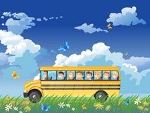 Auto escolar ilustração stock