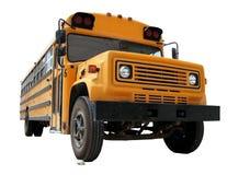 Auto escolar amarelo na areia Foto de Stock