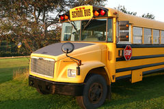 Auto escolar do país Imagens de Stock Royalty Free