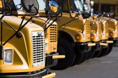 Auto escolares estacionados Foto de Stock Royalty Free