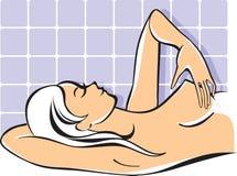 Auto-exame do peito ilustração royalty free