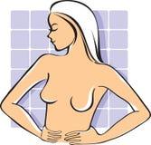 Auto-exame do peito ilustração do vetor