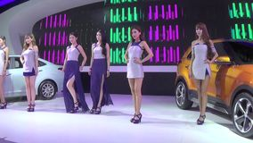 Auto exhibition promotion dance Royalty Free Stock Images