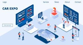 Auto Expo Horizontale Banne royalty-vrije illustratie