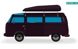 Auto für Touristen Kleinbus auf weißem Hintergrund Stockfoto