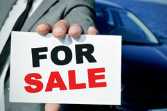 Auto für Verkauf Stockbild