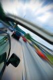 Auto fasten Laufwerk lizenzfreie stockfotos