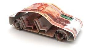 Auto-Finanzierung mit argentinischen Pesos vektor abbildung