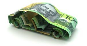Auto-Finanzierung mit australischem Dollar vektor abbildung