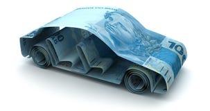 Auto-Finanzierung mit brasilianischem wirklichem lizenzfreie abbildung