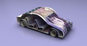 Auto-Finanzierung mit britischem Pfund lizenzfreie abbildung