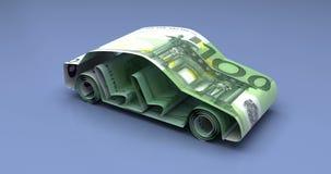 Auto-Finanzierung mit Euro lizenzfreie abbildung