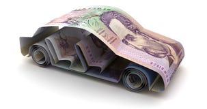 Auto-Finanzierung mit kolumbianischen Pesos lizenzfreie abbildung