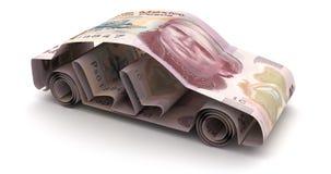Auto-Finanzierung mit mexikanischen Pesos vektor abbildung