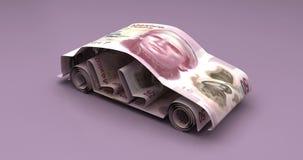Auto-Finanzierung mit mexikanischen Pesos stock abbildung