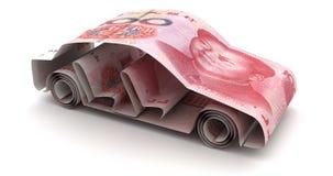Auto-Finanzierung mit neuem Chinesen Yuan lizenzfreie abbildung