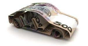 Auto-Finanzierung mit Ukrainer Hryvnia stock abbildung