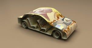 Auto-Finanzkanadische Dollar stock abbildung