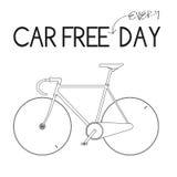 Auto-freies tägliches Weiß Stockfoto