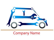Auto garage logo. Isolated illustrated auto garage logo design Stock Photo