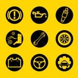 Auto-Garagen-Zeichen und Symbol Stockfotos