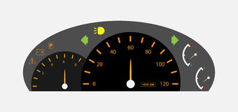 Auto Gear Car dashboard with gauge Royalty Free Stock Photos