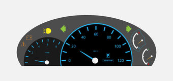 Auto Gear Car dashboard with gauge Royalty Free Stock Images