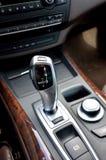 Auto gear lever. Luxury automatic gear lever inside car stock photo