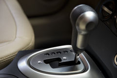 Auto gear shifter Stock Photography