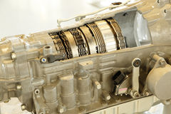 Auto gearbox crosssectional view Stock Photo
